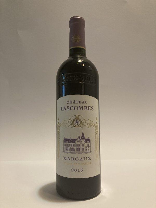 Bottiglia di vino rosso francese Margaux 2éme Cru Classé 2015 Château Lascombes