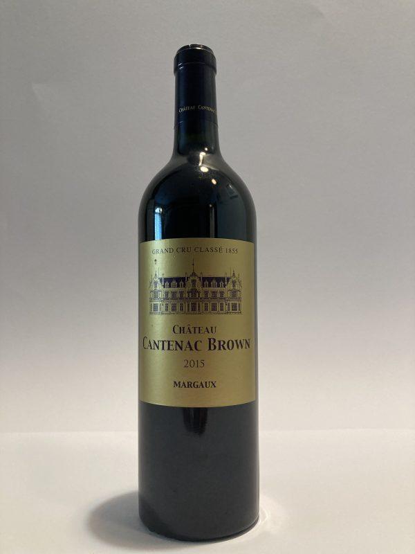 Bottiglia vino rosso fermo francese Margaux Grand Cru Classé 2015 Château Cantenac Brown
