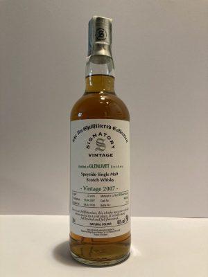 Scotch whisky Glenlivet vintage 2007 te signatory