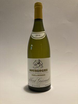 Vino bianco francese Bourgogne Clos du Murger 2018 Albert Grivault