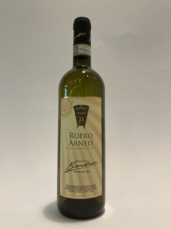 Vino bianco fermo piemontese Roero Arneis DOCG Azienda Agricola Bordone Giuseppe