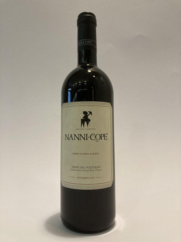 Vino rosso fermo italiano Terre del Volturno Sabbie di Sopra il Bosco 2010 Nanni Copè