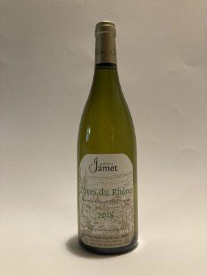 Vino bianco fermo francese, Valle del Rodano, Côtes du Rhone Blanc 2018 Jean-Paul & Corinne Jamet