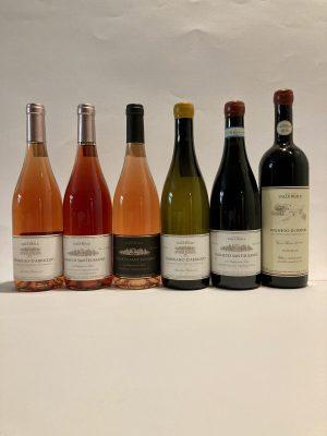 Box 6 bottiglie vino rosato bianco rosso Valle Reale