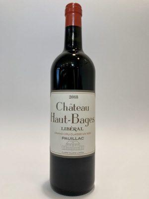vino_rosso_francese_bordeaux_Pauillac_5ème_Cru_Classé_2018_Château_Haut_Bages_Libéral