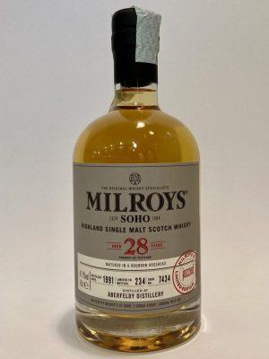 Milroys_Highland_Single_Malt_Scotch_Whisky_ABERFELDY_DISTILLERY_1991_Aged_28_Years