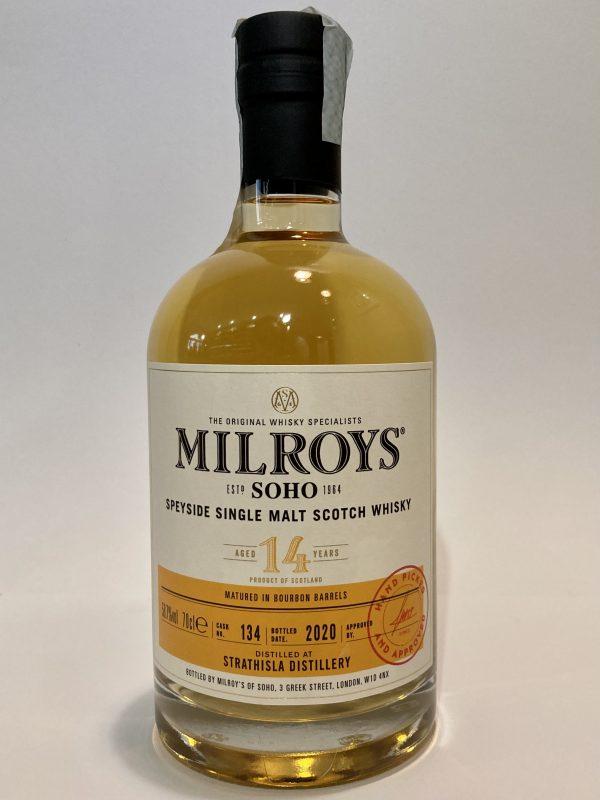 Speyside_Single_Malt_Scotch Whisky_STRATHISLA_DISTILLERy_2005_Aged_14_Years_Milroys