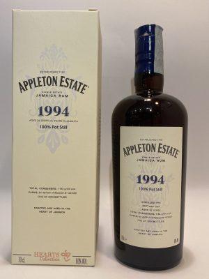 Appleton Estate_Rum, Single Estate_Jamaica Rum_HEARTS COLLECTION_1994_100% Pot Still_Aged 26 Years