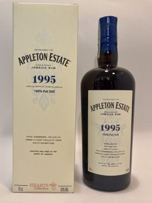 Rum_Single Estate_Jamaica Rum_1995_100% Pot Still_Aged 25 Years_hearts collections