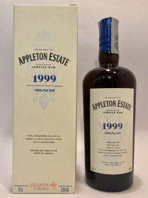 Rum_Single Estate_Jamaica Rum_HEARTS COLLECTION_1999_100% Pot Still_Aged 21 Years_appleton estate