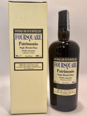 Rum_Single Blended Rum_PATRIMONIO_Double Maturation_Foursquare