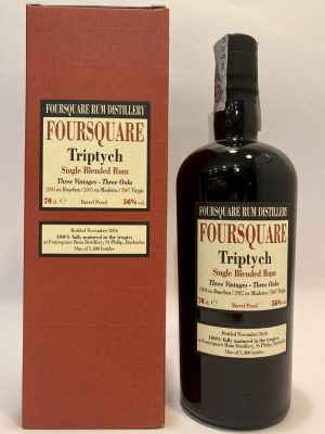Foursquare_Rum_Single Blended Rum_TRIPTYCH_Three Vintage_Three Oaks
