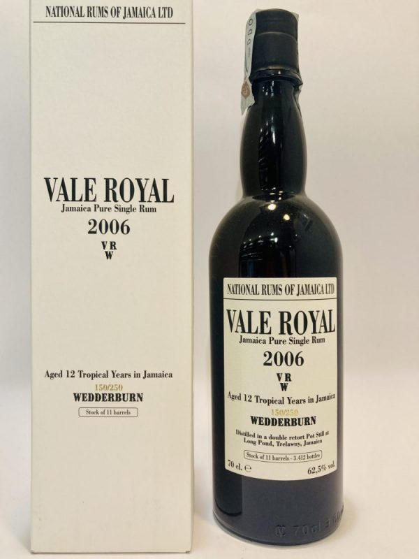 Jamaica_Pure Single Rum,_VALE ROYAL_VRW_2006_12_YO_Wedderburn