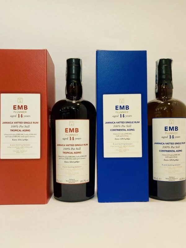 Jamaica_Vatted_Single Rum_EMB_Plummer Tropical_+_EMB Plummer_Continental Aging_Aged 14Years_Monymusk
